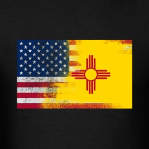 New Mexico American Flag Fusion - Men's T-Shirt