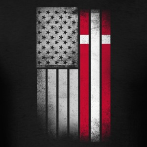 Danish American Flag - Men's T-Shirt