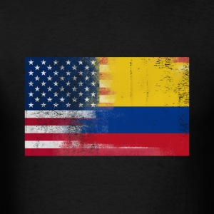 Colombian American Half Colombia Half America Flag - Men's T-Shirt