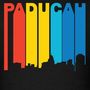 Retro 1970's Style Paducah Kentucky Skyline - Men's T-Shirt