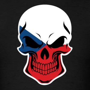 Czech Flag Skull - Men's T-Shirt