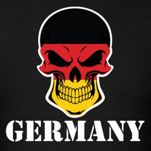 German Flag Skull Germany - Men's T-Shirt