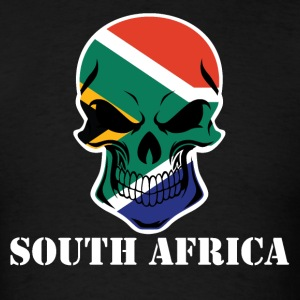 South African Flag Skull South Africa - Men's T-Shirt