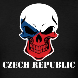 Czech Flag Skull Czech Republic - Men's T-Shirt