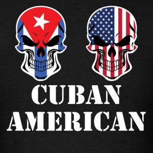Cuban American Flag Skulls - Men's T-Shirt