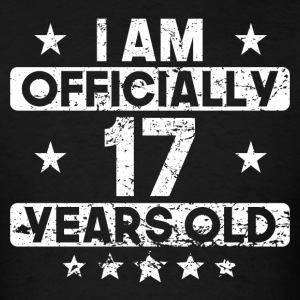 I Am Officially 17 Years Old 17th Birthday - Men's T-Shirt