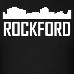 Rockford Illinois City Skyline - Men's T-Shirt