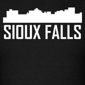 Sioux Falls South Dakota City Skyline - Men's T-Shirt