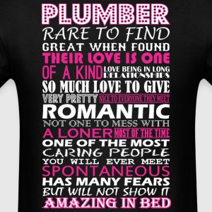 Plumber Rare To Find Romantic Amazing To Bed - Men's T-Shirt