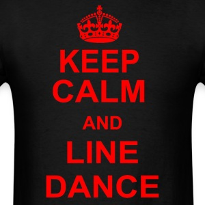 Keep Calm And Line Dance - Men's T-Shirt