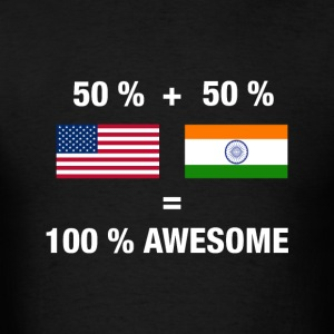 Half Indian Half American 100% India - Men's T-Shirt
