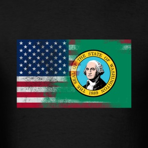 Washington American Flag Fusion - Men's T-Shirt