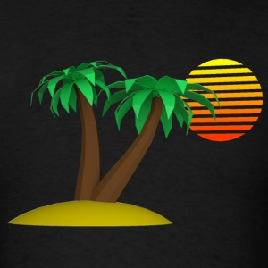 Palm Trees and Sun - Men's T-Shirt