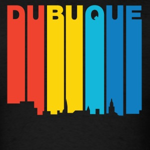 Retro 1970's Style Dubuque Iowa Skyline - Men's T-Shirt