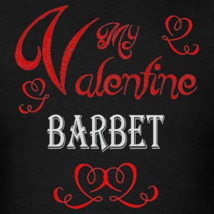 A romantic Valentine with my Barbet - Men's T-Shirt