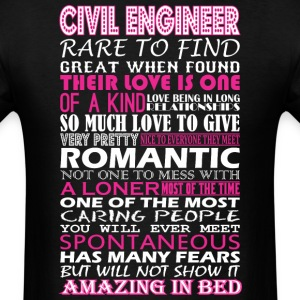 Civil Engineer Rare Find Romantic Amazing To Bed - Men's T-Shirt
