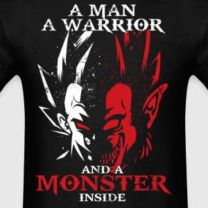 dragon ball majin vegeta monster in side - Men's T-Shirt