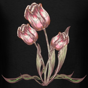Vintage Tulip flower - Men's T-Shirt