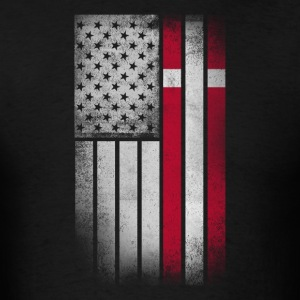 Danish American Flag - Half Dane Half American - Men's T-Shirt