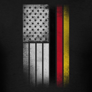 German American Flag - Half German Half American - Men's T-Shirt