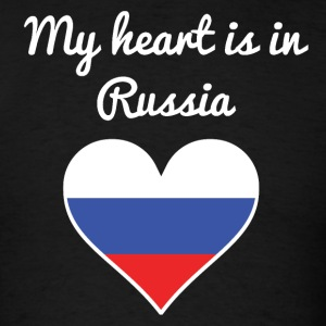 My Heart Is In Russia - Men's T-Shirt