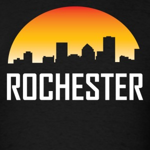 Rochester New York Sunset Skyline - Men's T-Shirt