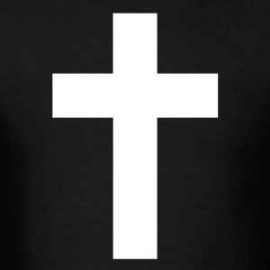 White Cross T-Shirt - Men's T-Shirt