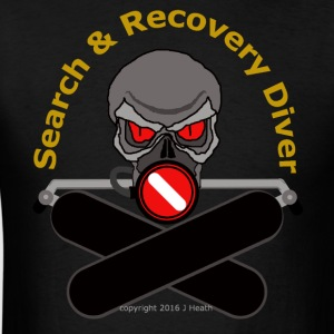 Search and Recovery Diver (Gold - Back) - Men's T-Shirt