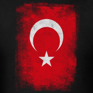 Turkey Turkish Flag Vintage Distressed T-Shirt - Men's T-Shirt