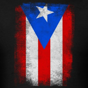 Puerto Rico State Flag Distressed Vintage Shirt - Men's T-Shirt