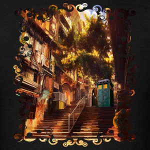 Time Traveler Lost in China town - Men's T-Shirt