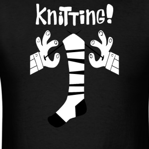 socks Knitting - Men's T-Shirt