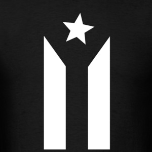 Puerto Rican Black and White Flag - Men's T-Shirt
