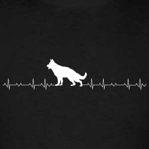 German Shepherd - German Shepherd Heartbeat - Men's T-Shirt