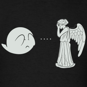 Angel - Boo.. and Angel - Men's T-Shirt