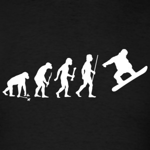 Snowboarding - Evolution of Man and Snowboarding - Men's T-Shirt