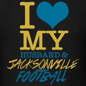 Jacksonville Football - I Love My Husband & Jack - Men's T-Shirt