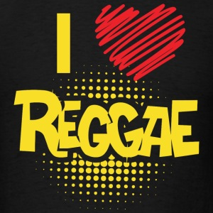 REGGAE - I LOVE REGGAE - Men's T-Shirt