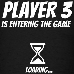 Pregnancy - Player 3 Funny Pregnancy Announcemen - Men's T-Shirt