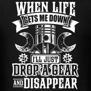 Motorcycle - Mens Drop a Gear and Disappear Funn - Men's T-Shirt