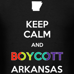 Boycott - Keep Calm and Boycott Arkansas - Men's T-Shirt