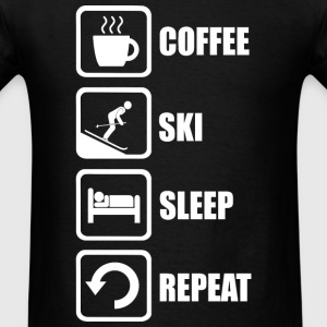 Ski - Funny Coffee Ski Sleep Repeat - Men's T-Shirt