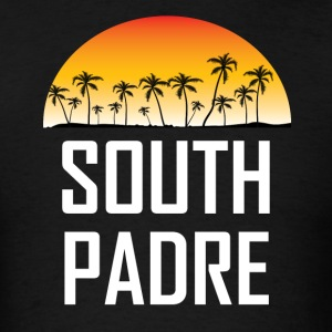 South Padre Island Sunset Palm Trees Beach - Men's T-Shirt