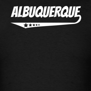 Albuquerque Retro Comic Book Style Logo - Men's T-Shirt