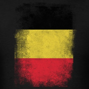 Belgium Flag Proud Belgian Vintage Distressed - Men's T-Shirt