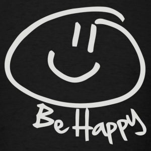 BE HAPPY SMILEY FACE - Men's T-Shirt