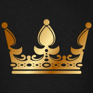 golden crown the king of rap drawing graphic arts - Men's T-Shirt