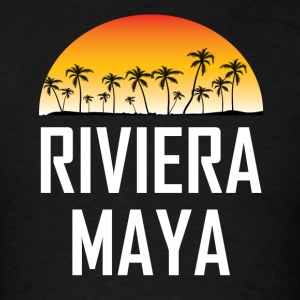 Riviera Maya Mexico Sunset Palm Trees Beach - Men's T-Shirt
