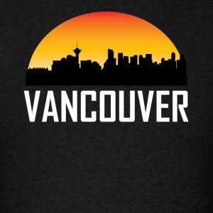 Sunset Skyline Silhouette of Vancouver BC - Men's T-Shirt