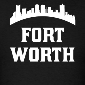 Vintage Style Skyline Of Fort Worth TX - Men's T-Shirt